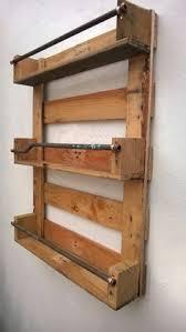 whisky rack shelf upcycled pallet crate handmade vintage shabby