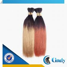 ombre human braiding hair straight brazilian remy micro 100 human ombre hair two tone