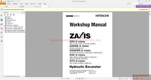 hitachi zaxis 200 225 240 270 3 service manual auto repair