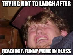 Wtf Is A Meme - trying not to laugh after reading a funny meme in class hilarious