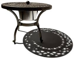 Wrought Iron Patio Side Table Amazing Outdoor Patio Side Table And Wrought Iron Round Mesh Top