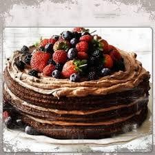 happy birthday chocolate cake strawberries