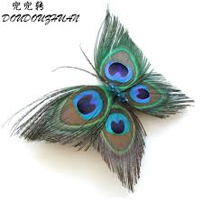 peacock headband alijimshop 2018 new butterfly peacock feather headband