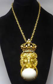pauline rader necklace vintage pauline rader lion necklace jeweldiva