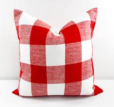 red pillow pillow cover buffalo check red check cushion