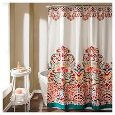 curtain decor clara shower curtain turquoise lush décor target