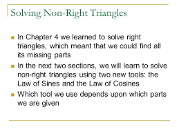 sections in law section 5 5 law of sines section 5 5 solving non right triangles