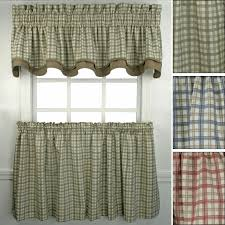 Kitchen Curtains Walmart by Decor Tier Kitchen Curtains Walmart With Country Pattern For