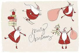 santa claus cards illustrations creative market
