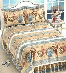 Seashell Queen Comforter Set Get The Brushed Ashore Coastal Coral Seashell Quilt Bedding Set