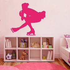bedroom vinyl sticker sport figure skating club sports woman font vinyl sticker sport figure skating club sports woman font b dancing b font skater wall decal