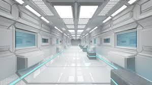 Futuristic Doors by Interior Design Futuristic Lab Environment Futuristic Lab
