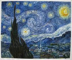hand painted van gogh reion starry night