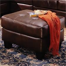 Brown Leather Ottoman Ottomans Storage Ottomans Leather Ottomans Home Square Com