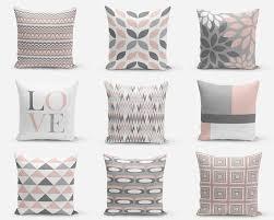 Home Decor Throw Pillows Blush Pillow Covers Blush Grey White Decorative Pillow