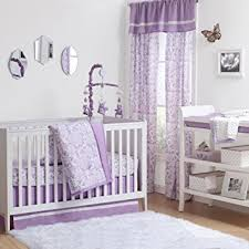 amazon com purple rose floral 4 piece baby crib bedding set by