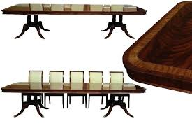 large oval mahogany double pedestal dining room table with double pedestal dining table with leaf high end finished large