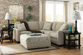 Decorating Ashley Furniture Sectional With Brown Leather Sofa And