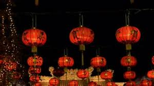 new years lanterns new year lanterns in chinatown stock footage