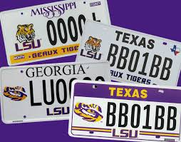 License Plate Map Lsu License Plate