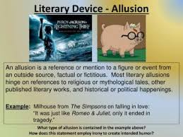 ppt literary device allusion powerpoint presentation id 2454253
