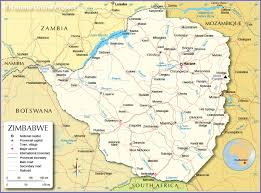 Map Of Zambia Administrative Map Of Zimbabwe Nations Online Project