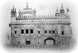 making of the sketch gurudwara darbar sahib amritsar youtube