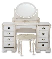 Narrow Makeup Vanity Table Bedroom White High Gloss Mirror Dressing Make Up Table With