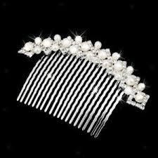 pearl hair comb silver bridal wedding pearl hair comb clip slide diamante