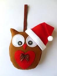 felt owl ornaments grey and white scandi christmas ornaments