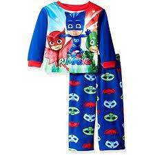 pj masks boys fleece pajamas 4t bluered multi