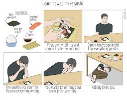Me Me Me English - english translated how to make sushi comic how to make sushi