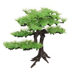 artificial plant pine tree aquarium fish tank rockery bonsai hotel