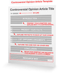 controversial opinion article template