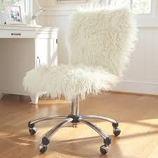 Desk Chair White White Furry Desk Chair 143 Cute Interior And Frenzy Office Chair