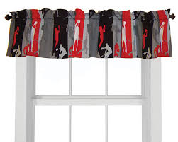 Basketball Curtains Sports Themed Window Treatments For Boys Rooms Sports Themed