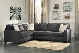 furniture industrial living room with l shaped charcoal 3 piece