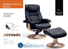 Recliners With Ottoman by Fjords Mustang Ergonomic Leather Recliner Chair Ottoman
