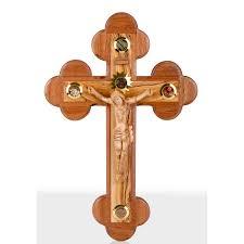 wooden wall crucifix large olive wood wall crucifix 42cm 16 5 wood corpus