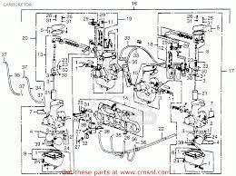 honda cb550f super sport 550 four 1976 usa carburetor schematic