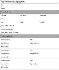 simple printable job application template sle application forms pizza hut application form sle forms