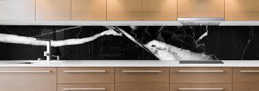 cuisine marbre noir crédence de cuisine sur mesure crédence marbre noir blanc