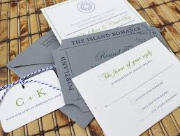 compass flat card wedding invitation peaks island maine