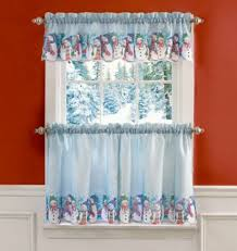 Curtain For Kitchen Designs Snowman Curtains For The Kitchen