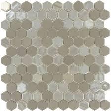 grey hexagon tile hexagon glass tile iridescent glass tile