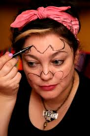 Bat Face Makeup Halloween by Betty Bat Pamper And Curves