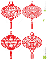 chinese design chinese contemporary design lanterns set stock photo image