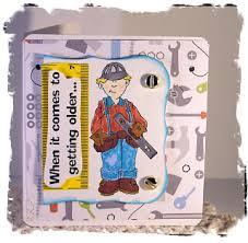 i like paper male birthday card carpenter