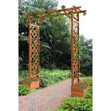 wooden planter box with trellis home u0026 garden compare prices