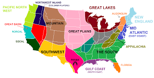 New England On Map The Revised Version Of The Us Separated Into Distinct Regions With
